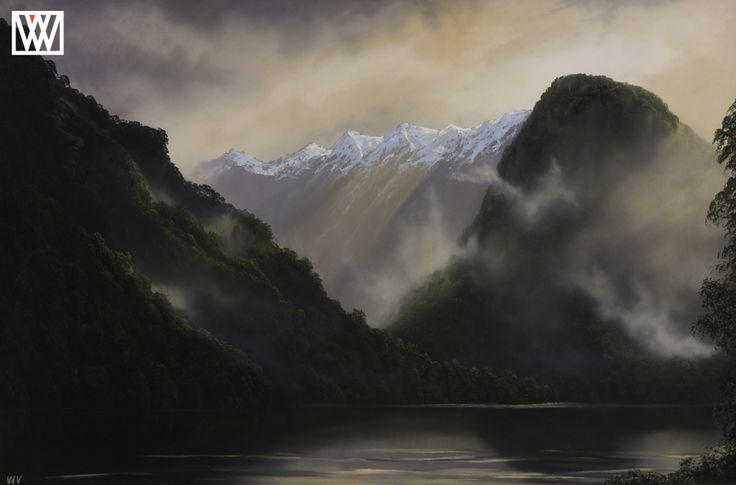 Doubtful impression-New Zealand Oil Painting Original http://waynevickers.com/gallery