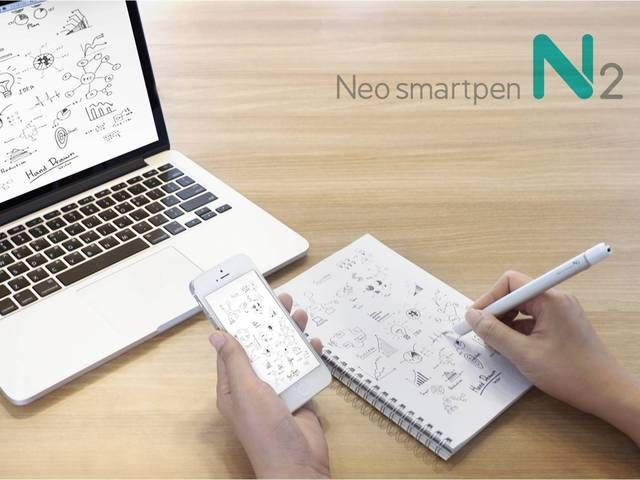 Neo smartpen N2 is a smartpen that writes on paper but also mirrors into smart devices. iOS, Android, Windows compatible. Support us!