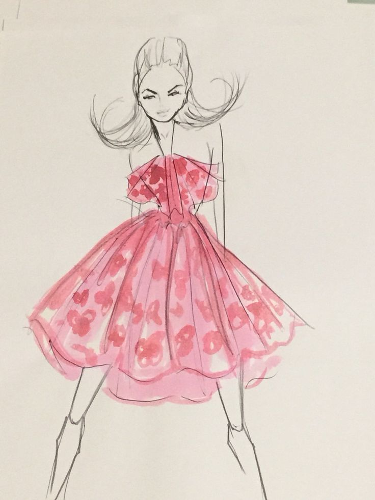 My fashion illustration   Follow scrubs_to_couture on Instagram for more sketches
