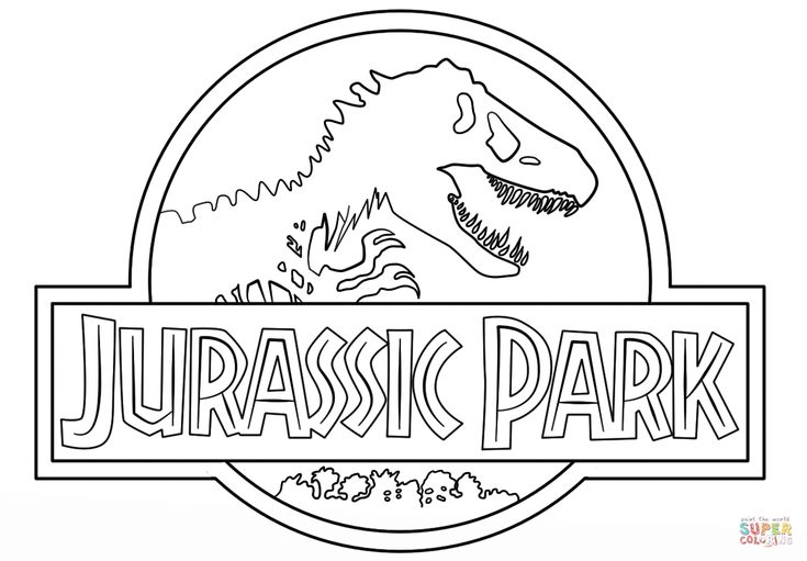 Click the Jurassic Park Logo coloring ...