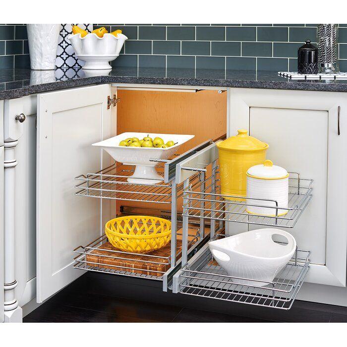 Blind Corner Cabinet Organizer In 2020, Kitchen Cabinets Organizers For Blind Corner