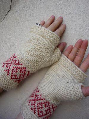 Dödergök--Tvåändsstickning - Twined Knitting