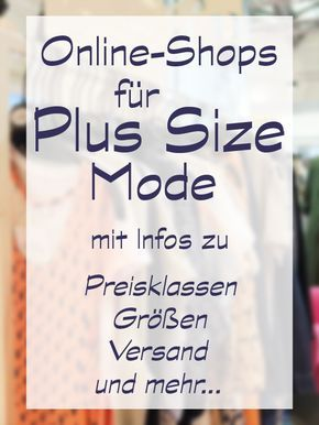 Plus Size Online-Shop Shopping Guide große Größ…