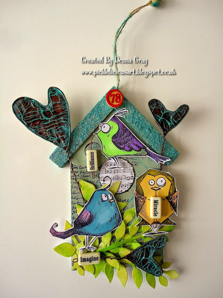 Inky and Quirky: Thats Crafty! - Funky Birdies