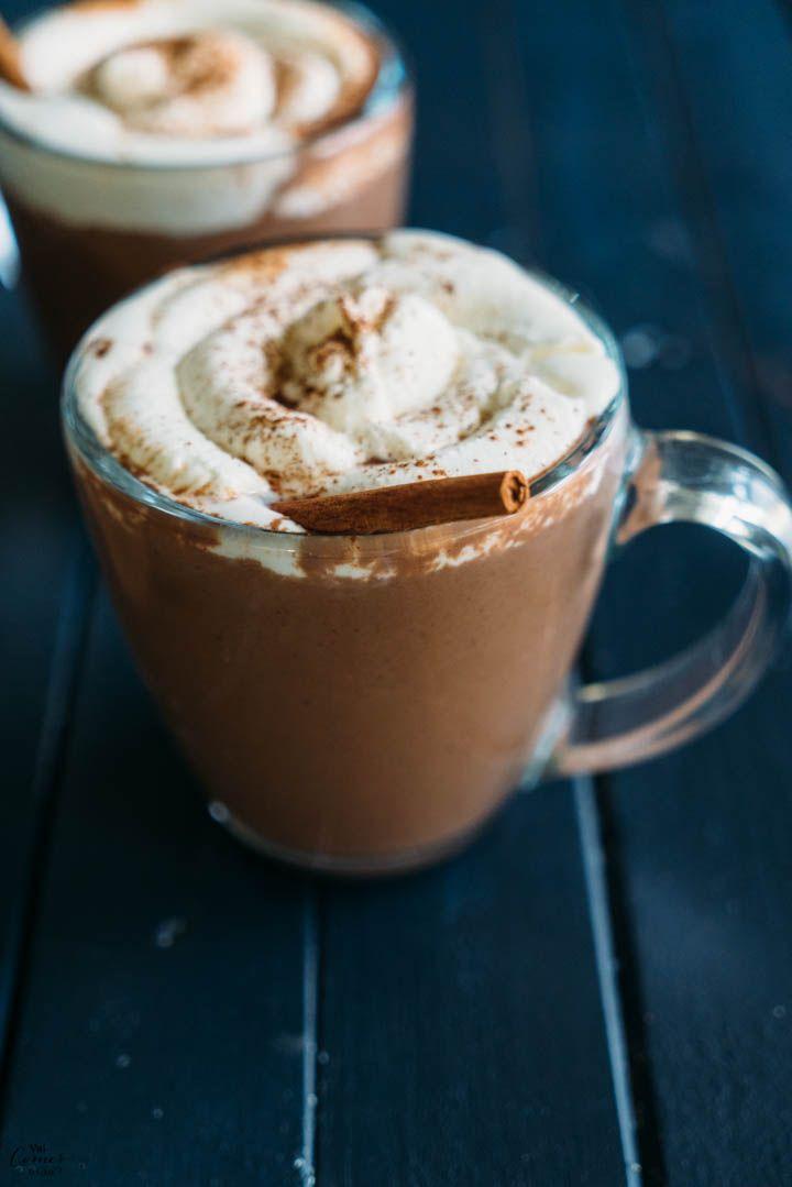 chocolate quente do vai comer o quê