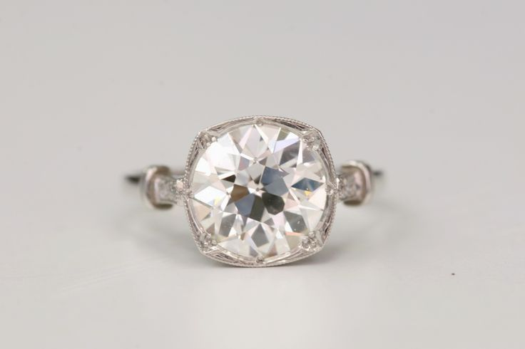 1stdibs | Old European Cut Diamond Engagement Ring