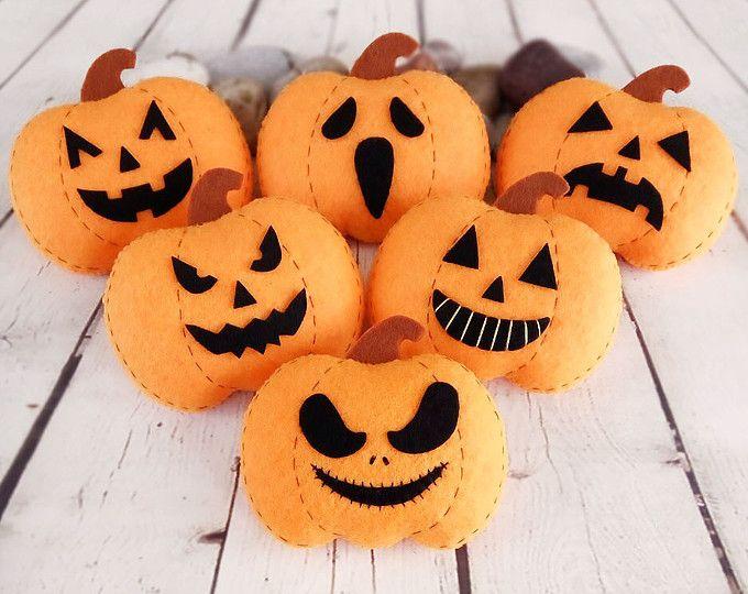 Decoraciones de Halloween calabaza Jack-o Halloween regalo Baby Shower favorece gracias decoración juguete fieltro calabaza naranja decoraciones de otoño