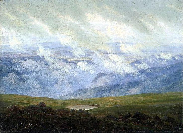 masterpiecedaily: Caspar David Friedrich Drifting Clouds 1820