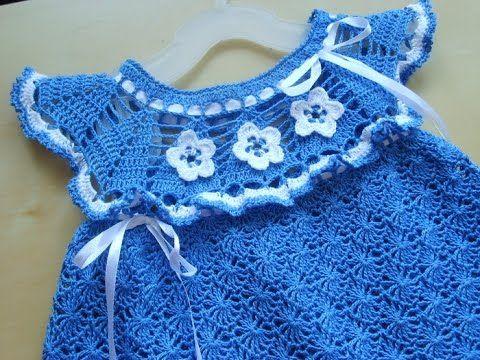 Crochet baby dress| free |Crochet patterns| 363 CLICK here to get many Patterns of Crochet Shawls http://www.youtube.com/watch?v=MmTEqL9uH9M&list=PLUAu1C63pw...