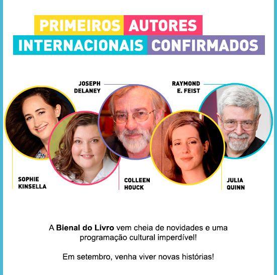 Os autores confirmados para Bienal do Livro Rj 2015