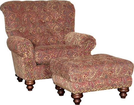 Mayo Furniture 9310 Fabric Chair and Ottoman - Phillip Antique