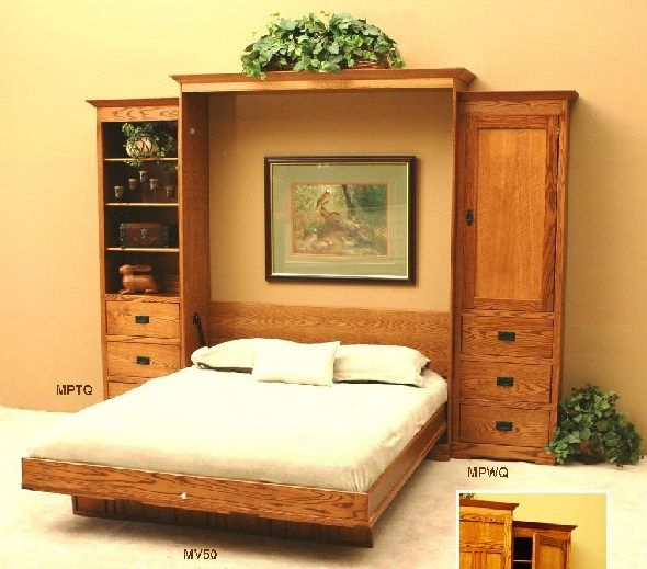 Wall bed wall beds murphy beds retractable space savers for Retractable bed