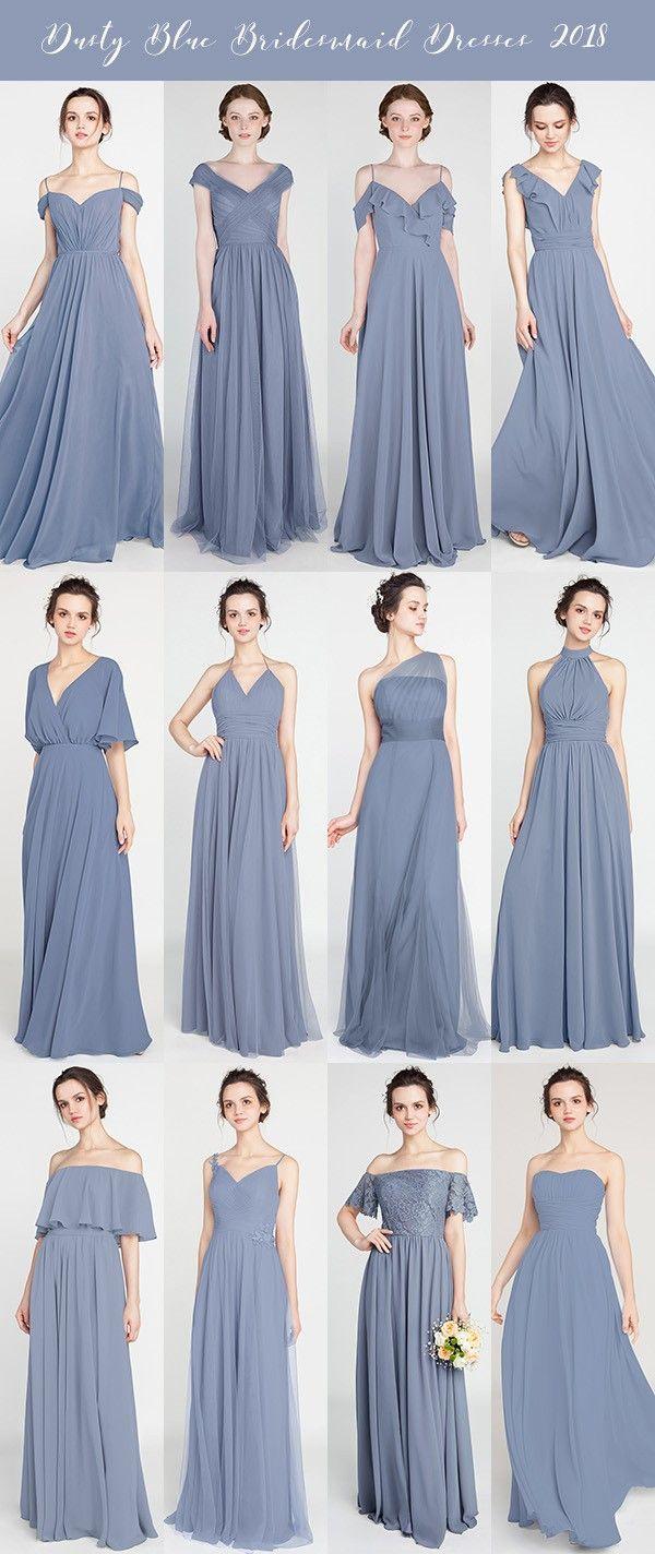 The 25+ best Dusty blue bridesmaid dresses ideas on
