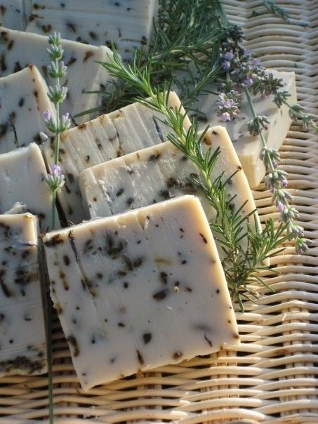 Lavender and Rosemary Soap/ Jabón de lavanda y romero.