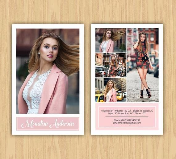 Comp Card Template Photoshop Beautiful Fashion Model P Card Template Modeling P Card Model Comp Card Card Templates Free Card Template