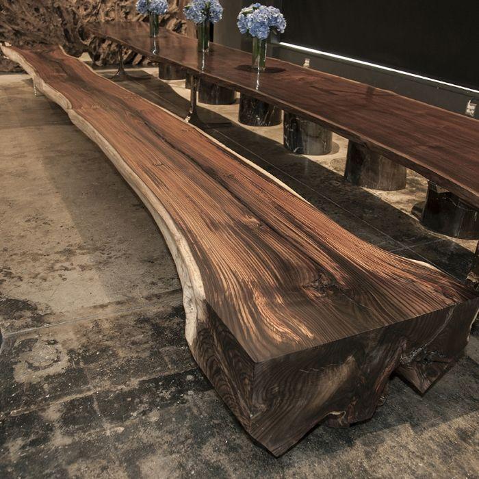 24 ft Rosewood Bench - ref:2041 Hudson Furniture-SR