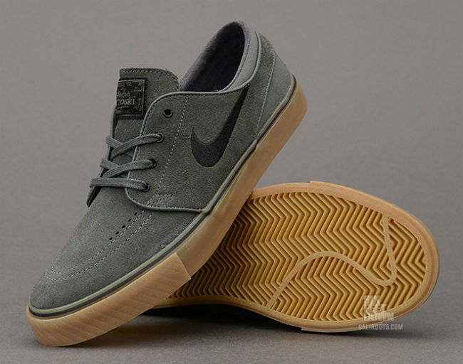 Nike SB Stefan Janoski Dark Base Grey / Black-Gum | Raddest Men's Fashion Looks On The Internet: http://www.raddestlooks.org