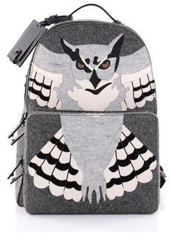 Valentino Pre-owned: Owl Backpack Wool And Leather.