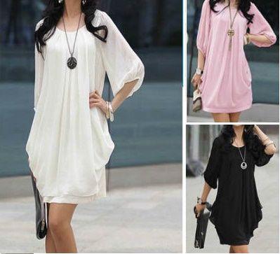 Mini robe tendance été fluide - bestyle29.com
