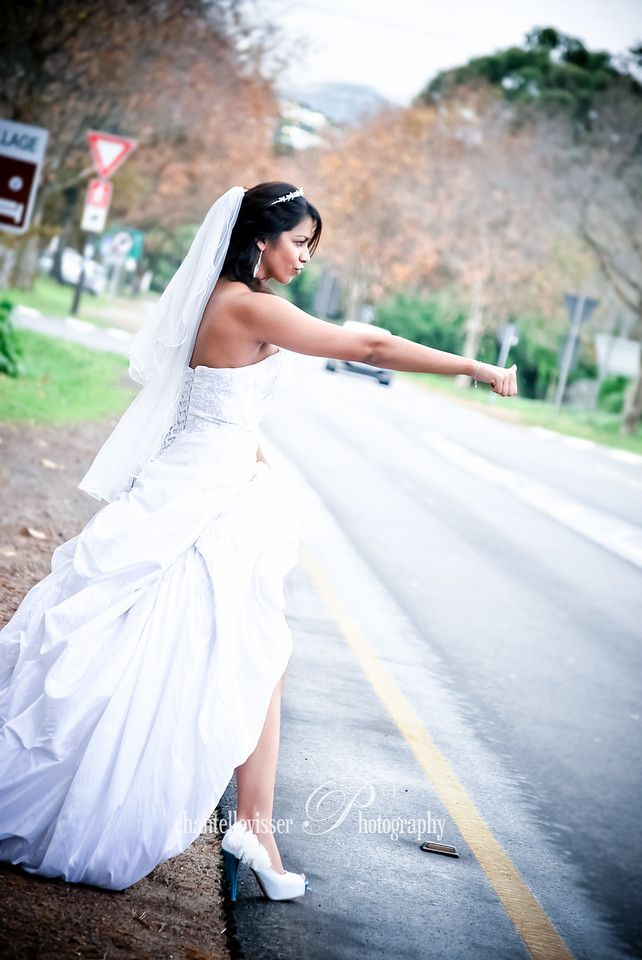 Hitch hiking Bride | Weddings - Chantelle Visser Photography