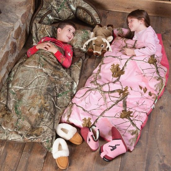 Realtree AP and Pink Camo Kids Sleeping Bags