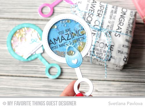 Handmade packaging from Svetlana Pavlova featuring products from My Favorite Things #mftstamps