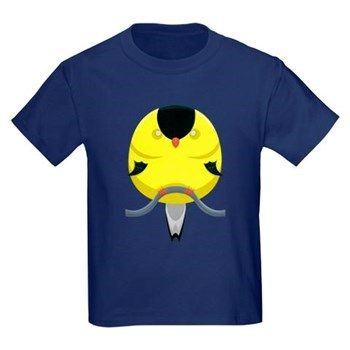 Cartoon Finch Kids Dark T-Shirt from cafepress store: AG Painted Brush T-Shirts. #finch #bird #cartoon #kids