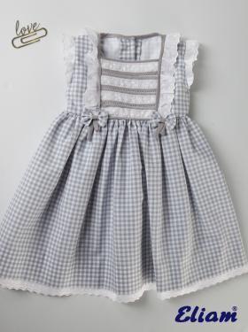 Vestido Niña de Cuadros - Niña - Colección - Tienda de ropa infantil Eliam