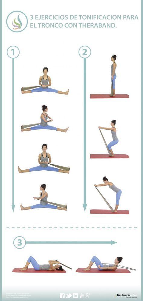 Tonifica tus músculos dorsales y abdominales mediante estos ejercicios con theraband