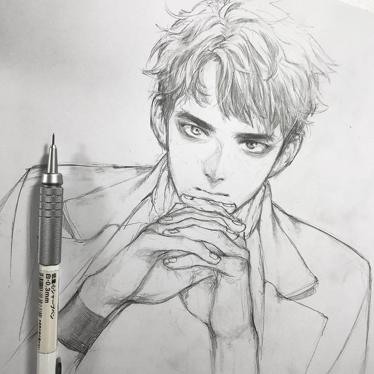 Pin By Rain Michaels On Anime Portrait Anime Drawings Sketches Guy Drawing Art Sketches