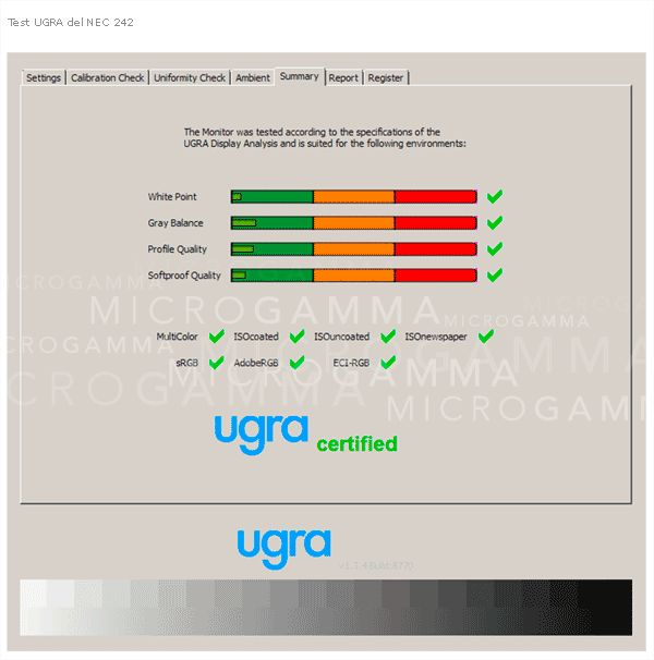 test ugra monitor nec pa242w Test UGRA del monitor NEC PA242W con calibración por hardware