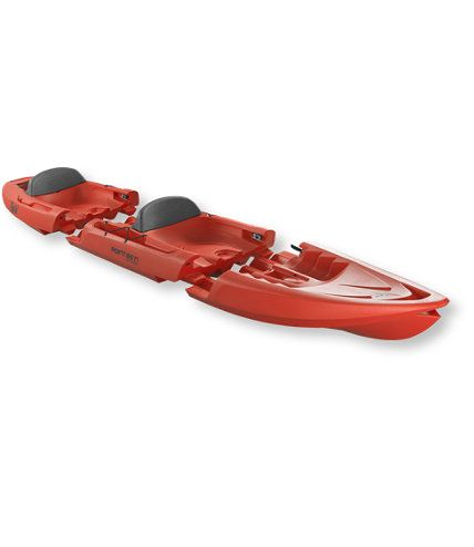 A kayak that comes apart for storage and travel, can remove middle for single...now that's cool!