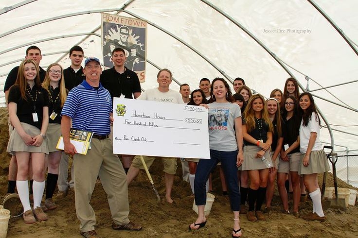 Our thanks to the Pax Christi Club from St. John Vianney High School for their generous donation of $500. For more on the story of the check presentation: http://usahometownheroes.com/local-high-school-heroes #BoardwalkJourney #BeAHero