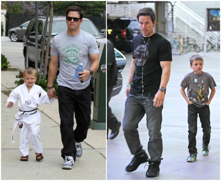 Mark Wahlberg with son Michael Wahlberg