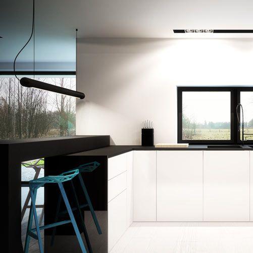 Kitchen design in Ruda Śląska, POLAND - archi group.  Kuchnia w domu jednorodzinnym.