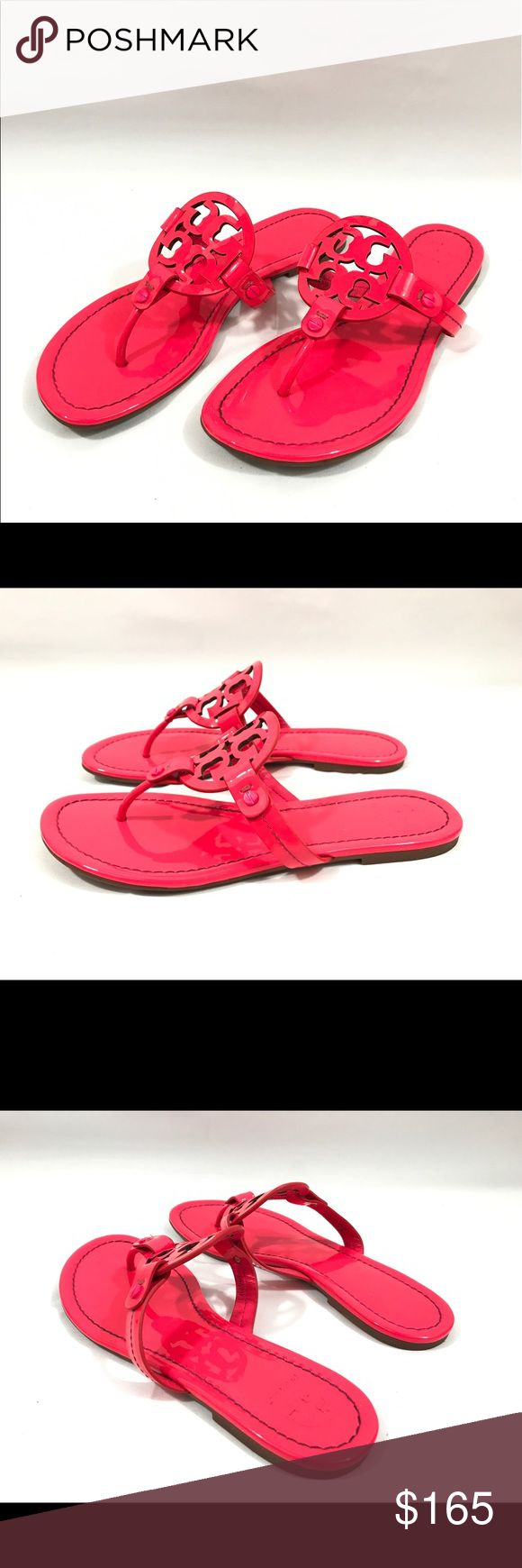 Tory Burch Miller Flip Flop Great condition, Fluo Fuchsia color.🚫trade Tory Burch Shoes Sandals