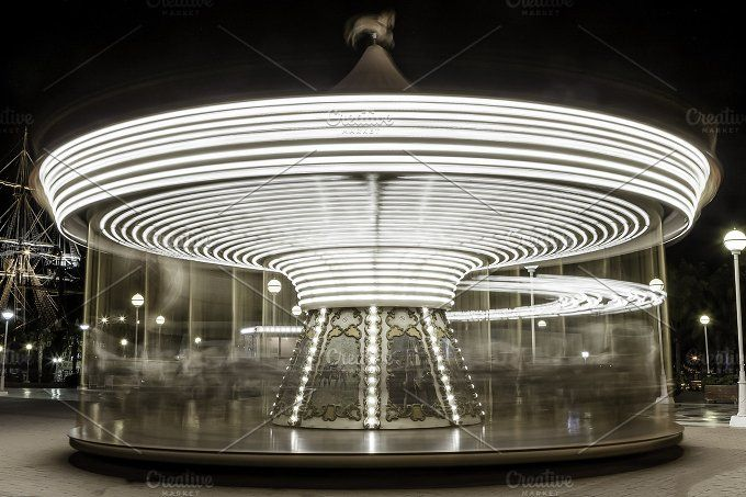illuminated carousel by Click and Photo on @creativemarket