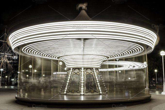 illuminated carousel by Click and Photo on @creativemarket