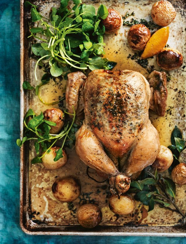 lemon thyme roasted chicken from donna hay