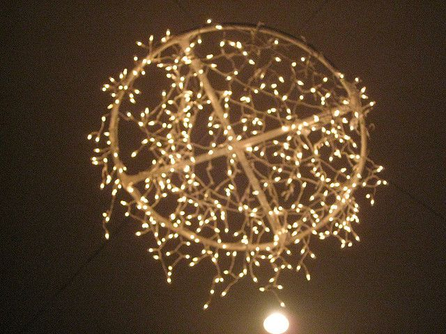 The 25 best homemade chandelier ideas on pinterest diy cool homemade chandelier by bri via flickr aloadofball Choice Image
