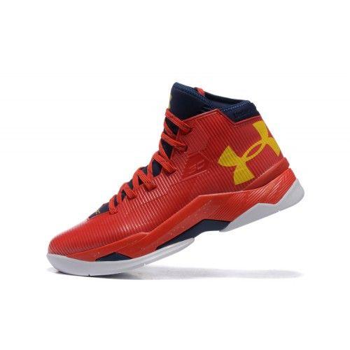 Veste Under Armour Curry 2.5 Rouge Jaune Bleu Pas Cher Nouveau Homme Chaussure De Basket France