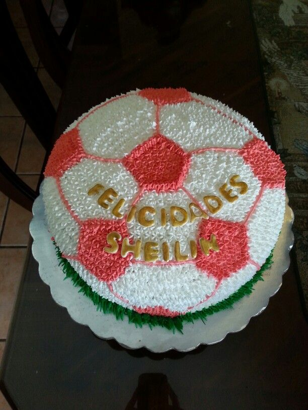 Soccer ball cake from candy's cupcakes for girl