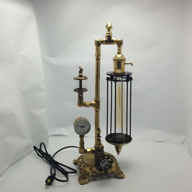 Industrial age  Victorian  Steampunk Style Skinny Desk Lamp Only L16-09  #Handmade #VictorianStyle