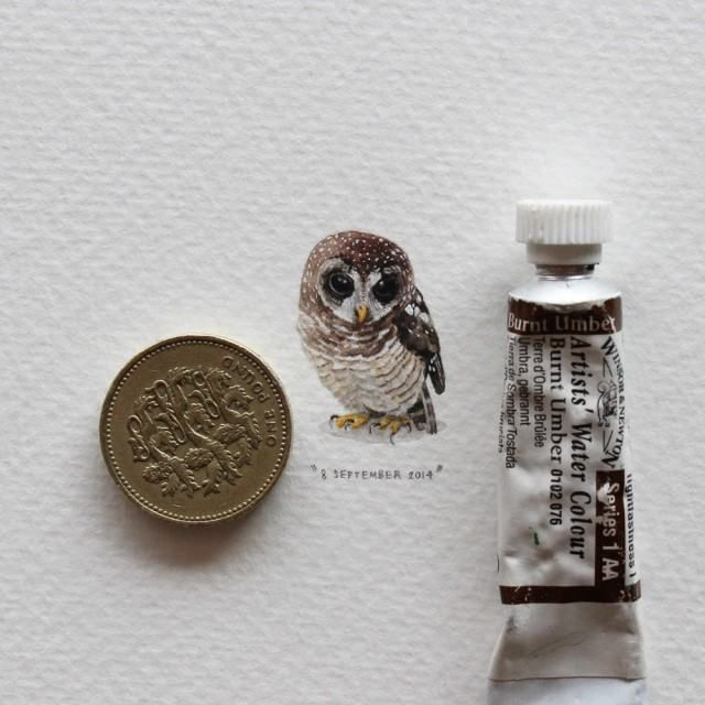 Best A Little Images On Pinterest Ants Lorraine And - Artist creates miniature paintings everyday entire year