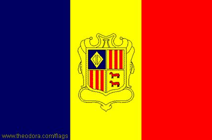 Flag of Andorra - Geography, Flag, Map, Economy, Geography, Climate, Natural Resources, Current Issues, International Agreements, Population, Social Statistics, Political System