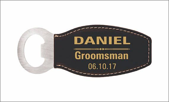 GROOMSMAN Custom Magnetic Bottle Opener Personalized Wedding