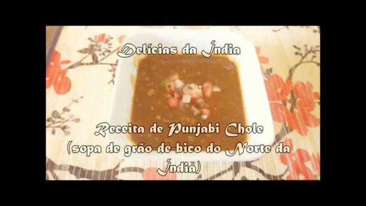Punjabi Chole ( Sopa cremosa de grão-de-bico)
