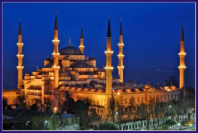 Een mooie moskee in Istanbul.