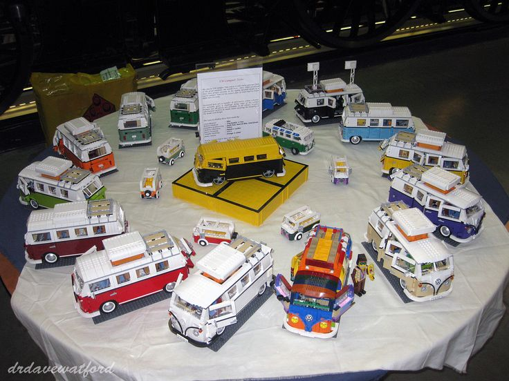 Customized Lego VW Camper Vans