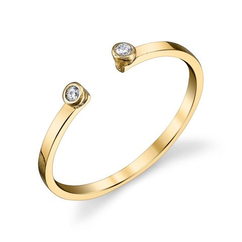 GABRIELA ARTIGAS Double Diamond Gold Ring – KAVUT